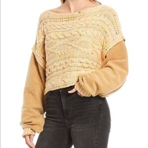 FREE PEOPLE Honey Cable Knit Sweater NWT sz XS!